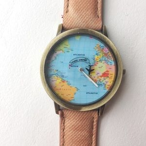 Accessories - World Map Watch